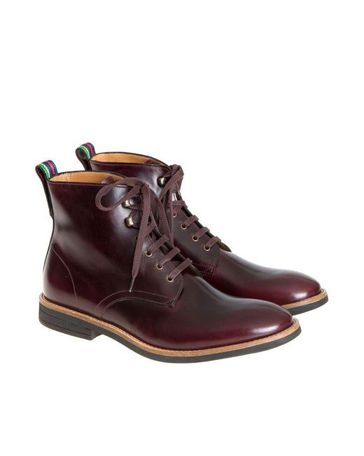 PS by Paul Smith - Brown Hamilton Ankle Boots for Men - Lyst