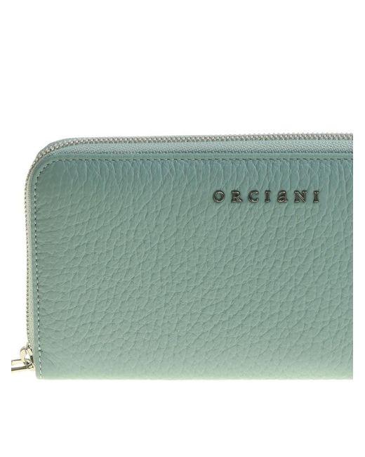 Aquamarine wallet Orciani AoTtsPS