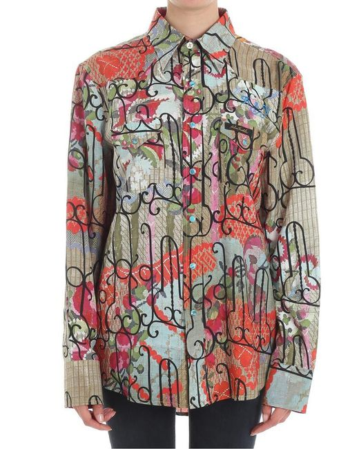 Vivienne Westwood - Multicolor Sid Viscose And Silk Shirt - Lyst
