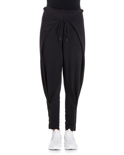 Y-3 - Black Stretch Pants - Lyst