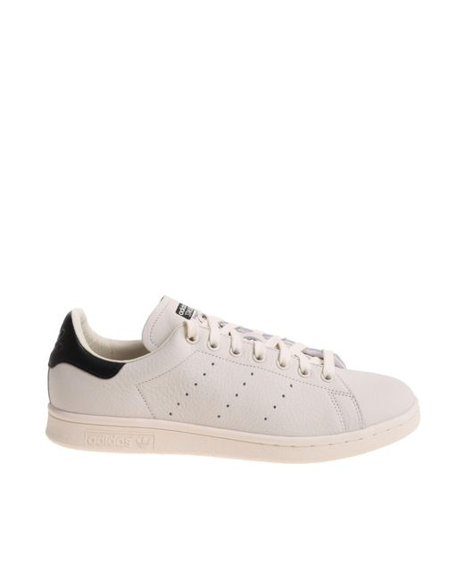 "Adidas Originals - ""stan Smith"" White And Black Sneakers - Lyst"