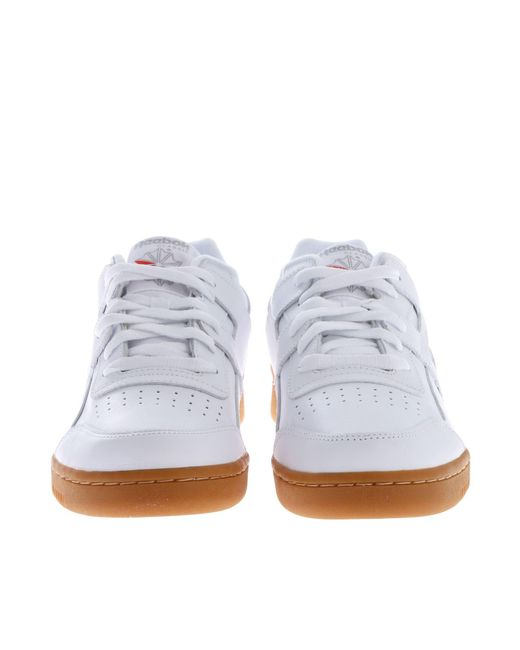 Lyst - Reebok Workout Plus White Sneakers in White for Men - Save 58% 6c53c7e47