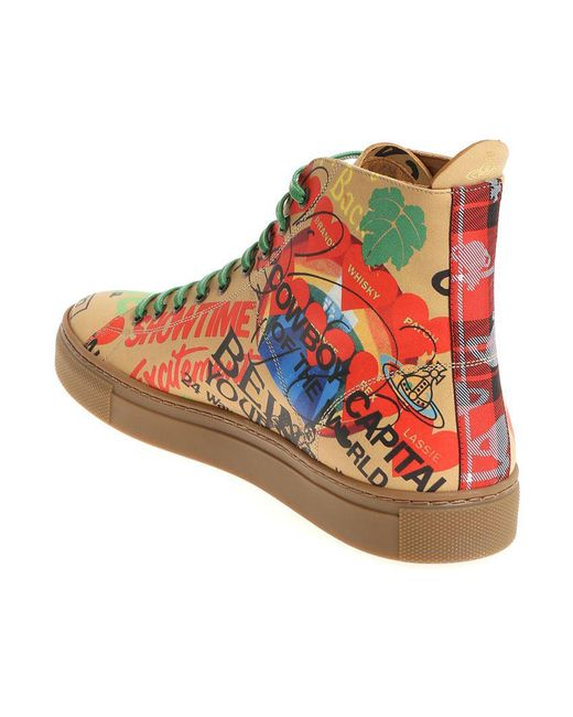 Beige sneakers with multicolor print Vivienne Westwood sXCBu