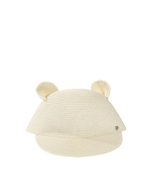 Karl Lagerfeld - Natural Cat Ears Straw Hat - Lyst