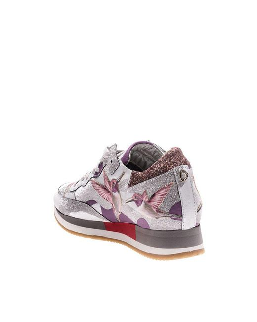 Sale Visa Payment Tropez sneakers with bird embroideries Philippe Model With Credit Card Online IdFc1V