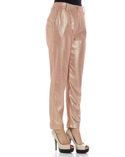 Pink eco-leather trousers Patrizia Pepe Classic wW3iPYu