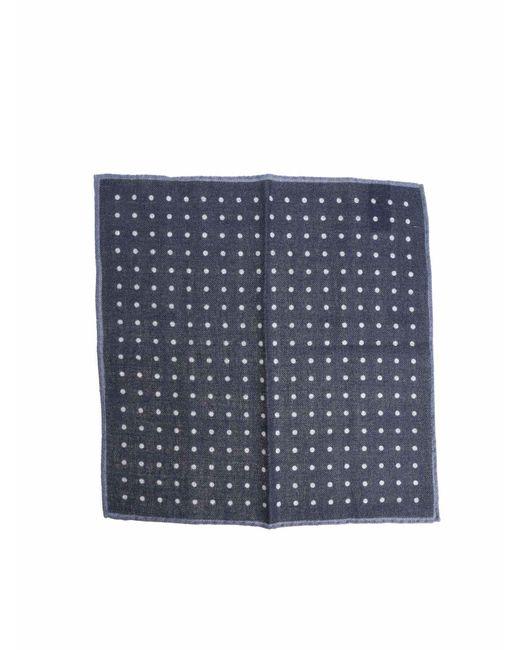 Altea - Handkerchief In Blue Wool for Men - Lyst