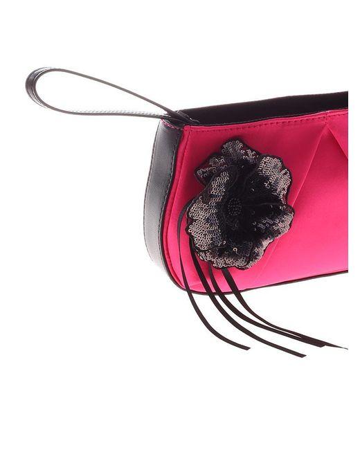 Fuchsia Fasolaro wrist clutch bag Pinko VFsb9kL