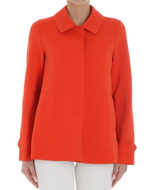 Harris Wharf London - Orange Scuba Effect Coat - Lyst