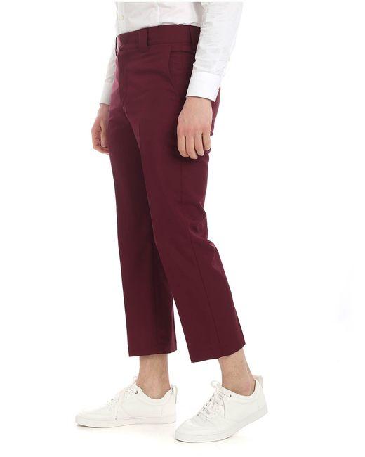 b2d71d9b408 ... MSGM - Purple Burgundy Trousers for Men - Lyst ...