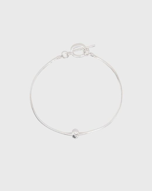 Another Feather - White Plait Anklet - Lyst