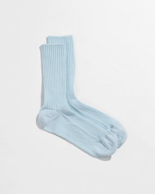 Baserange - Blue Over Ankle Sock - Lyst