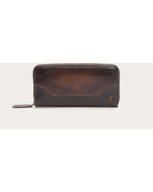Frye | Brown Melissa Zip Wallet | Lyst
