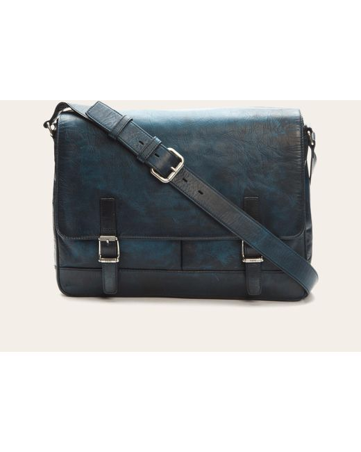 Frye | Blue Oliver Messenger for Men | Lyst