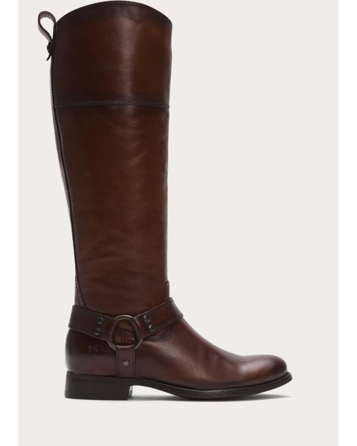 Frye | Brown Melissa Harness Inside Zip Wide | Lyst