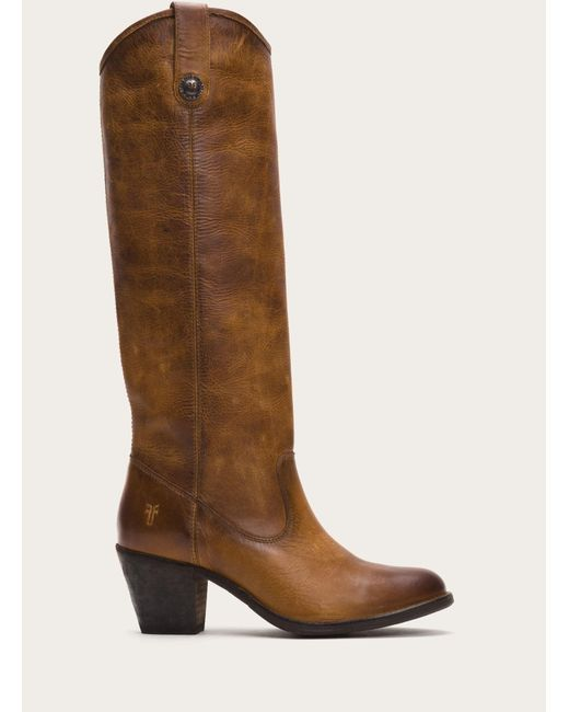 Frye   Brown Jackie Button   Lyst