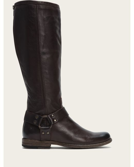 Frye | Brown Phillip Harness Tall Wide | Lyst