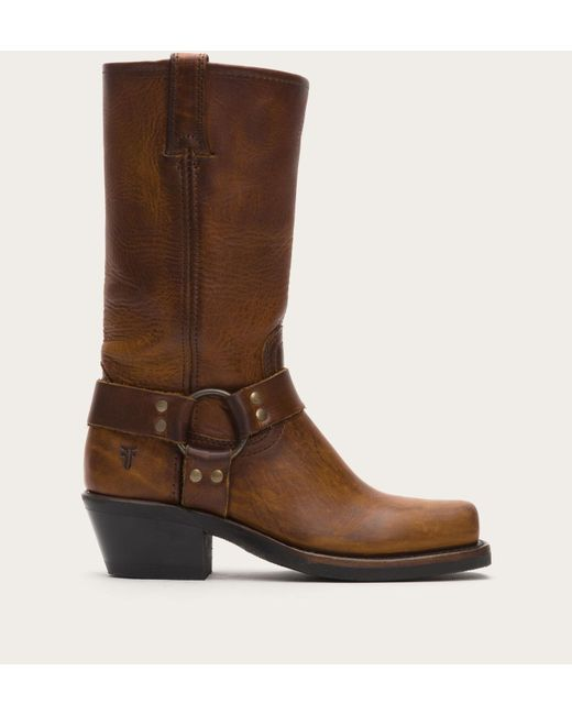 Frye | Brown Harness Square Toe Engineer Boot | Lyst