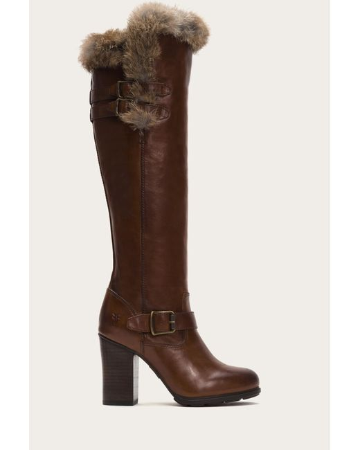 Frye | Brown Penny Luxe Moto Tall Shearling | Lyst