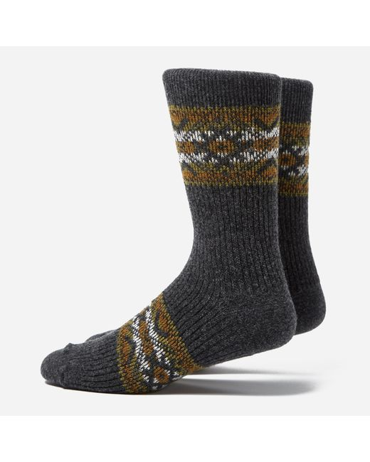 Anonymous Ism | Gray Estonian Jacquard Socks for Men | Lyst