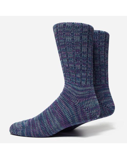 Anonymous Ism | Blue 5 Colour Mix Crew Socks for Men | Lyst