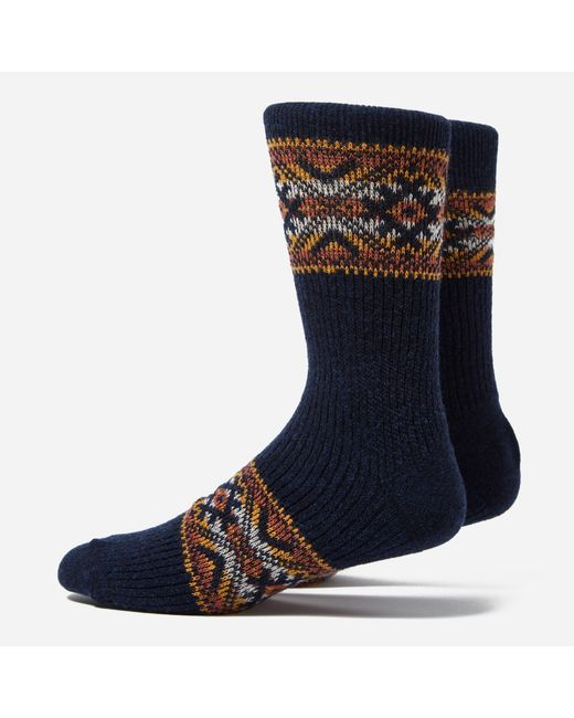 Anonymous Ism | Blue Estonian Jacquard Socks for Men | Lyst