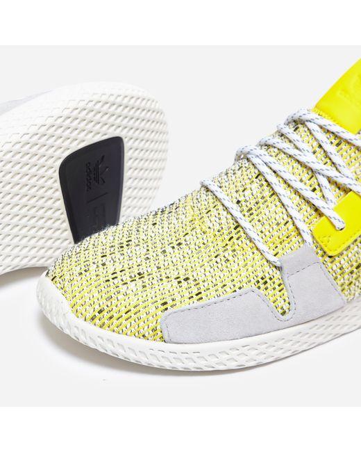 1110b048a ... Adidas Originals - Yellow X Pharrell Williams Solar Hu Tennis V2  afro  Pack  for ...