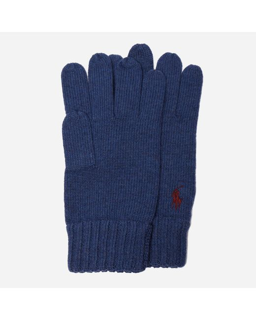 Polo Ralph Lauren - Blue Merino Wool Gloves for Men - Lyst
