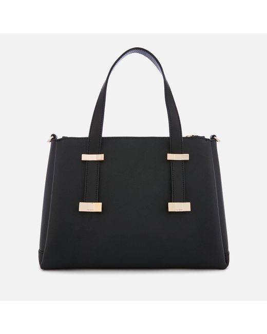 f0b059cb7834 ... Ted Baker - Black Julieet Bow Adjustable Handle Small Tote Bag - Lyst  ...