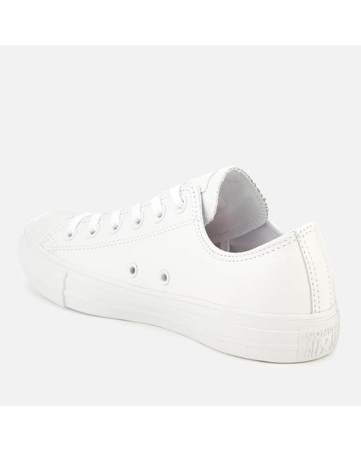 f21ad361288d ... Converse - White Unisex Chuck Taylor All Star Ox Leather Trainers for  Men - Lyst ...