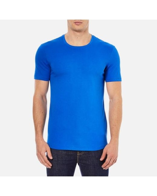 J.Lindeberg | Blue Axtell Crew Neck Slim Fit T-shirt for Men | Lyst
