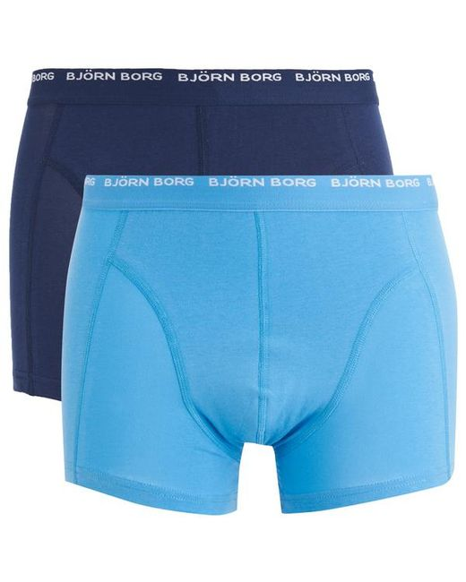 Björn Borg | Blue Twin Pack Boxers for Men | Lyst