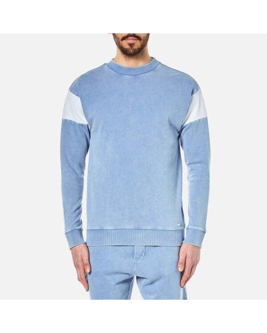 BOSS Orange | Blue Men's Wham Crew Neck Sweatshirt for Men | Lyst