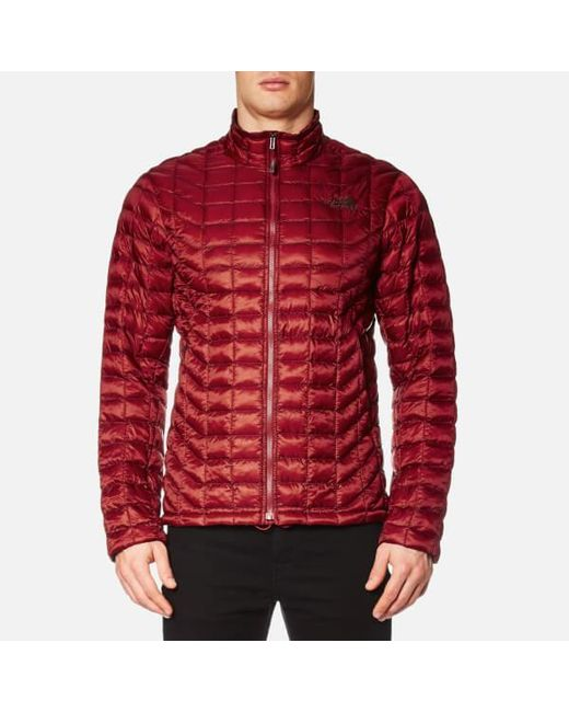 The North Face | Red Thermoball Full Zip Jacket for Men | Lyst