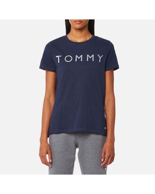 Tommy Hilfiger   Blue Tommy Print T-shirt   Lyst