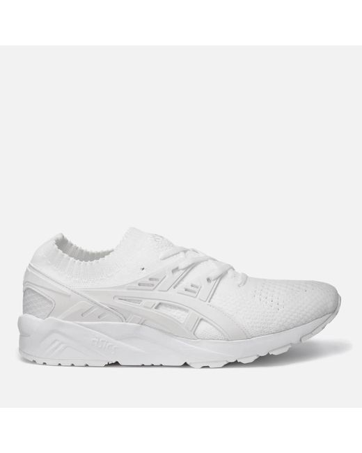 Asics - White Gel-kayano Knit Trainers - Lyst