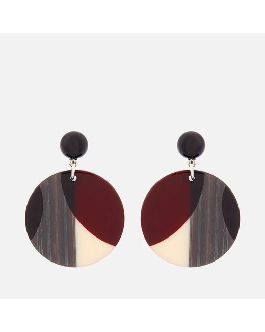 Whistles - Multicolor Geometric Circle Resin Earrings - Lyst