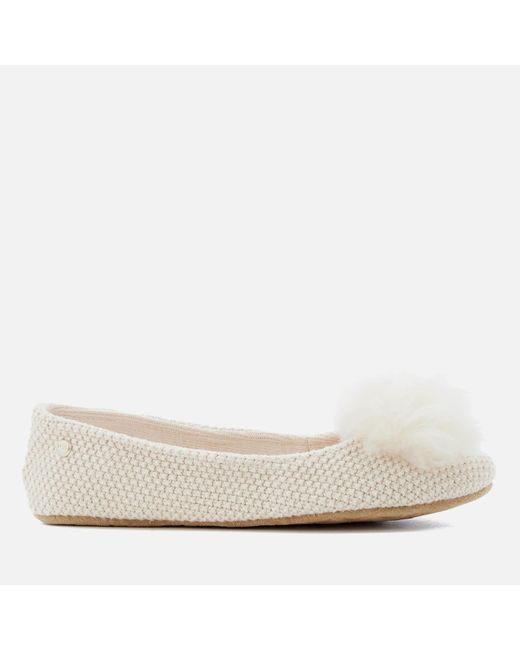 Ugg - Natural Andi Cotton Knitted Slippers - Lyst