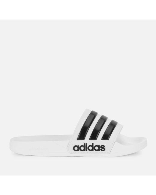 9f2f2d6b6c240b adidas Adilette Shower Slide Sandals in White for Men - Save 13% - Lyst