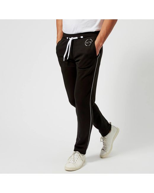 Armani Exchange - Black Drawstring Sweatpants for Men - Lyst
