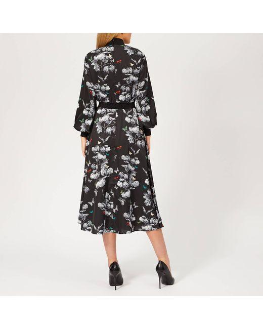 00b1bf41 ... Ted Baker - Black Eynah Narrnia Midi Dress - Lyst ...