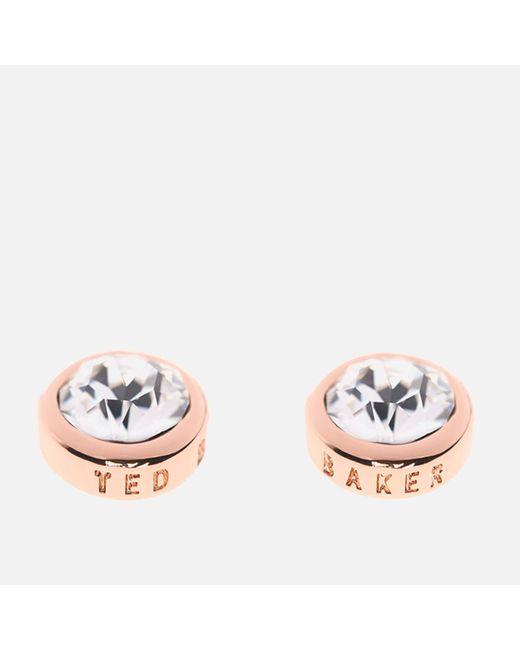 Ted Baker - Pink Sinaa Swarovski Crystal Stud Earrings - Lyst