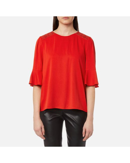 BOSS Orange - Red Kaloky Top - Lyst