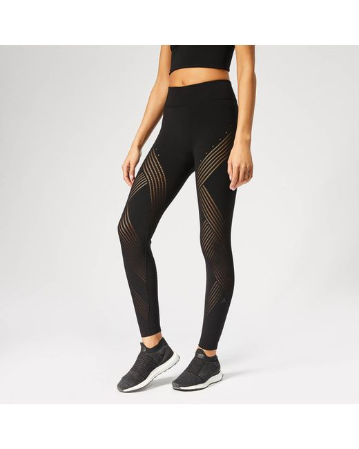 fc00cea795df7 Adidas - Black Warp Knitted Tights - Lyst ...