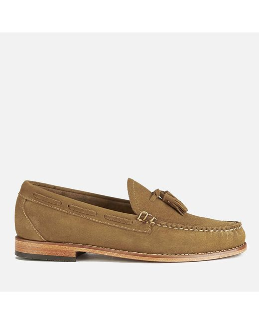 G.H.BASS - Brown Layton Pull Up Kiltie Leather Loafers for Men - Lyst