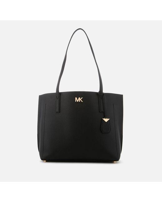 4aec10114566 MICHAEL Michael Kors - Black Ana Medium East West Bonded Tote Bag - Lyst ...