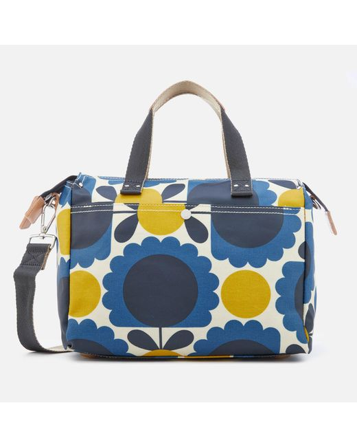 Orla Kiely - Blue Laminated Scallop Flower Spot Small Zip Messenger Bag - Lyst