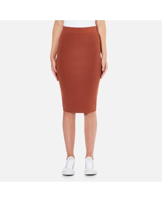 SELECTED - Brown Women's Mirja Knitted Skirt - Lyst