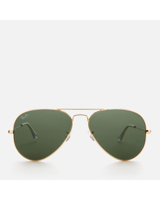 c4906709ff Lyst - Ray-Ban Aviator Metal Frame Sunglasses in Green for Men ...