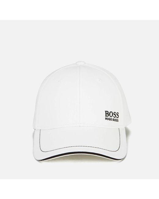BOSS Green - White Small Logo Cap for Men - Lyst